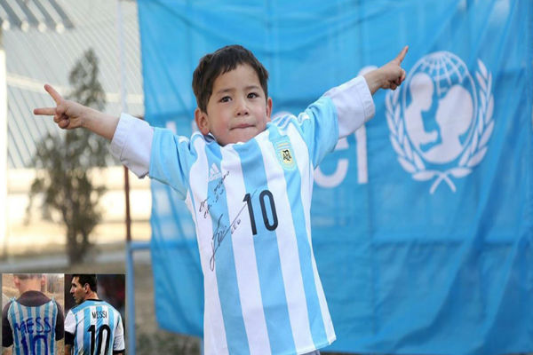 الطفل الأفغاني الشهير مرتضى أحمدي
