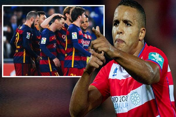 النجم المغربي يوسف العربي مهاجم فريق غرناطة يتوعد برشلونة