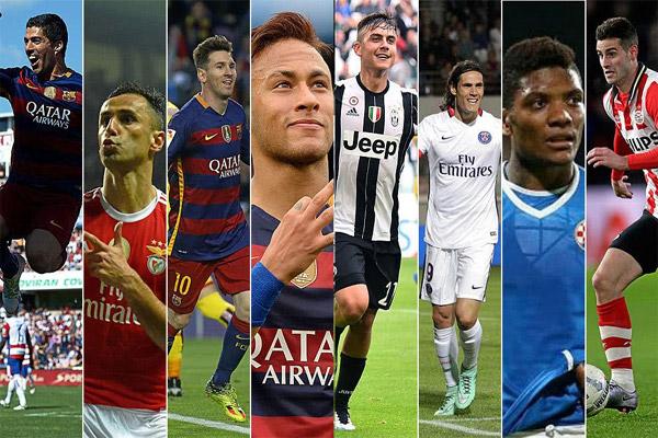 فرض لاعبو قارة أمريكا الجنوبية أنفسهم بقوة خلال الموسم المنقضي بتواجدهم في تشكيلات جميع أبطال الدوريات الأوروبية