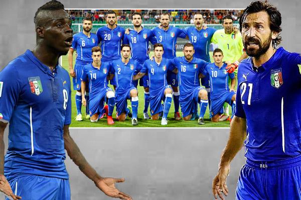 غياب بيرلو وبالوتيلي عن قائمة إيطاليا لكأس أوروبا