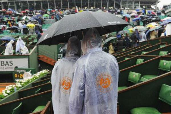 إلغاء مباريات الاثنين في رولان غاروس بسبب المطر