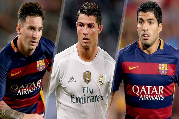 جائزة الكرة الذهبية تنحصر بين الثلاثي كريستيانو رونالدو ولويس سواريز وليونيل ميسي