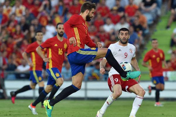 من مباراة إسبانيا وجورجيا