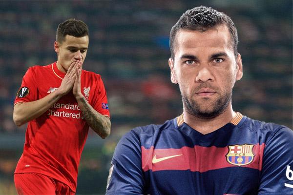 ألفيس ينصح مواطنه كوتينيو بارتداء قميص برشلونة