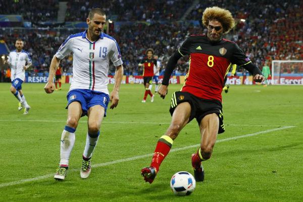 من مباراة إيطاليا وبلجيكا