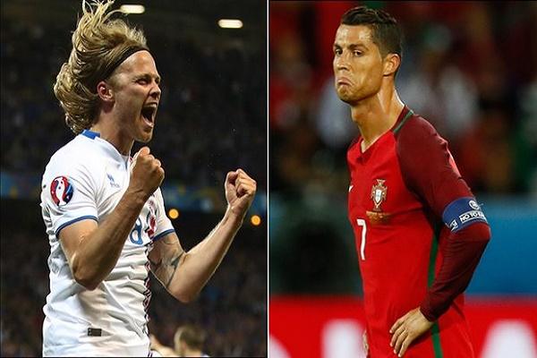 رونالدو ينتقد احتفالات لاعبي أيسلندا بعد التعادل مع البرتغال