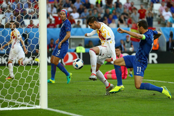 موراتا افتتح نتيجة المباراة بهدف مبكر في شباك كرواتيا