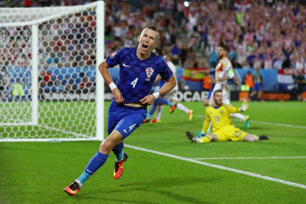 بيريسيتش أحرز هدف الانتصار لكرواتيا على إسبانيا