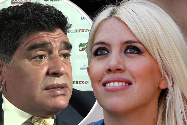 زوجة إيكاردي ترد بقوة على مارادونا