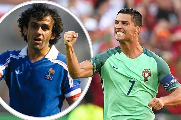 النجم البرتغالي كريستيانو رونالدو يسعى لتحطيم رقم الفرنسي بلاتيني
