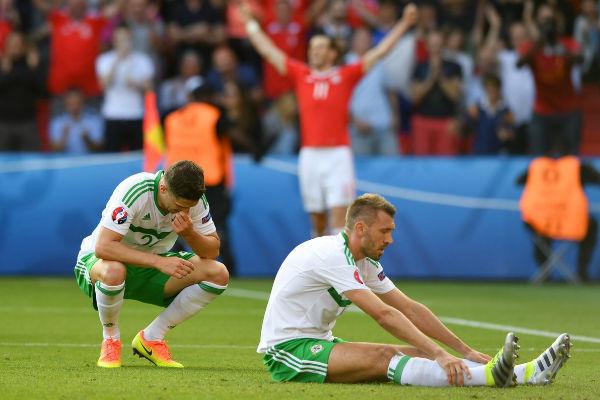 خيبة أمل واضحة على لاعبي إيرلندا الشمالية