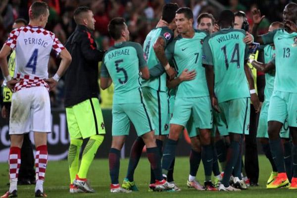 منتخب البرتغال فاز على غريمه الكرواتي