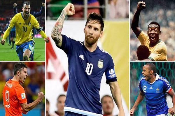 ميسي ينضم إلى كبار هدافي المنتخبات العالمية