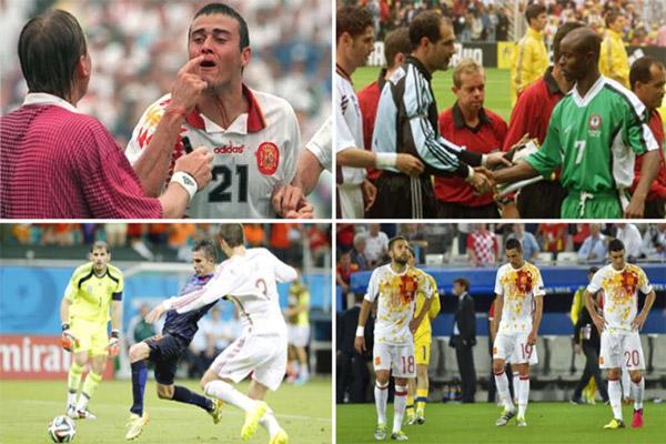 القميص الأبيض يتحول إلى لعنة تلاحق المنتخب الإسباني