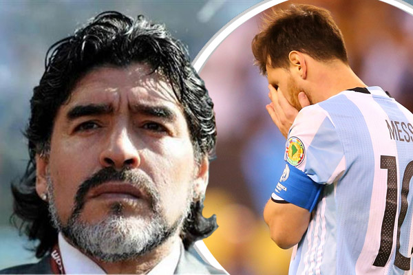 مارادونا يحث ميسي على العدول عن قرار الاعتزال الدولي