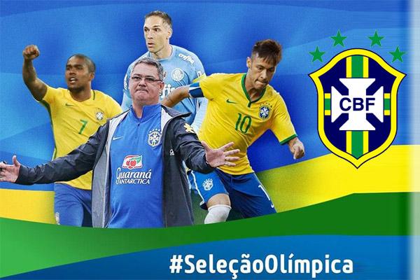 نيمار ودوغلاس كوستا في تشكيلة البرازيل لأولمبياد ريو
