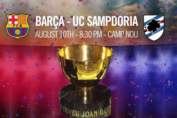 برشلونة يواجه سامبدوريا في كأس خوان غامبر