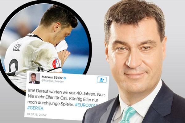ماركيس سودر اثار موجة من السخط بعدما نشر تغريدة انتقد فيها أوزيل لتضييعه احدى ركلات الترجيح