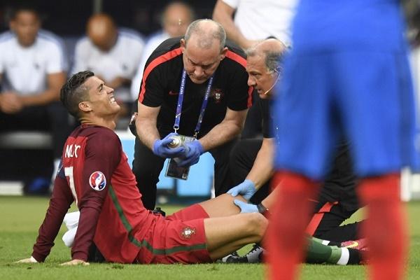 الإصابة تحرم رونالدو من استكمال نهائي كأس أوروبا