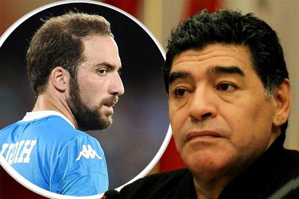 مارادونا ينتقد هيغواين بسبب اتفاقه السري مع مسؤولي يوفنتوس