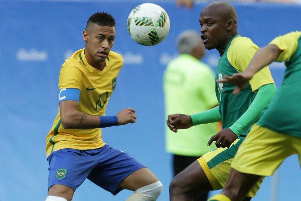 من مباراة البرازيل وجنوب افريقيا