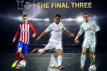 رونالدو وبيل وغريزمان للتنافس على لقب أفضل لاعب أوروبي