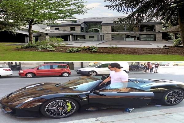 منزل إبراهيموفيتش الجديد في مانشستر وسياراته الفاخرة