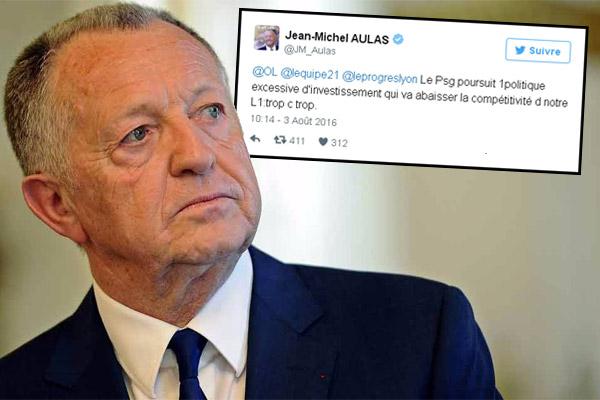 رئيس نادي أولمبيك ليون يوجه انتقادات شديدة ضد السياسة المالية التي تتبعها إدارة نادي باريس سان جيرمان