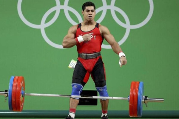 احرز الرباع المصري محمد ايهاب برونزية وزن 77 كلغ ضمن رياضة رفع الاثقال