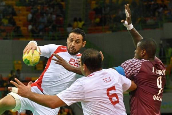 انتهت مباراة القمة العربية بين قطر وتونس بالتعادل 25-25
