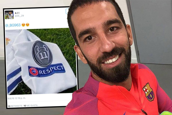 توران ابدى اعجابه بصورة قميص ريال مدريد عبر حسابه في