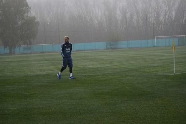 ميسي في تدريبات منتخب الأرجنتين