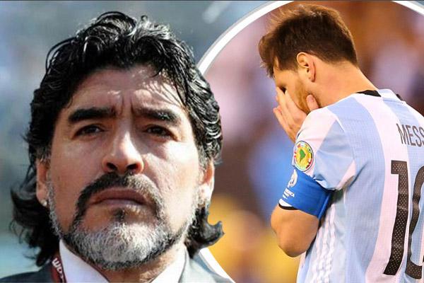 اتهم الأسطورة الأرجنتيني مارادونا مواطنه ليونيل ميسي باستغلال إسمه في صفوف المنتخب الوطني