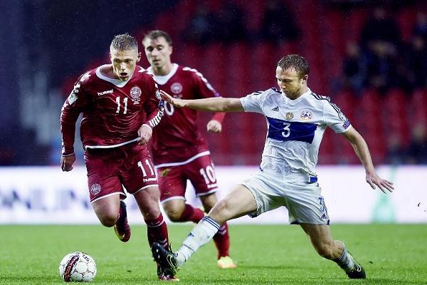 فوز الدنمارك على ارمينيا 1-صفر