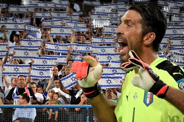 هل صحيح بوفون قد هتف و صاح، خلال المباراة تجاه مشجعي المنتخب الإسرائيلي بعبارة