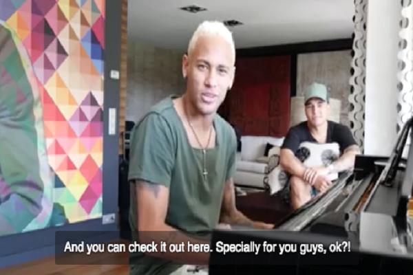 نيمار يكشف عن كلمات أول أغنية له