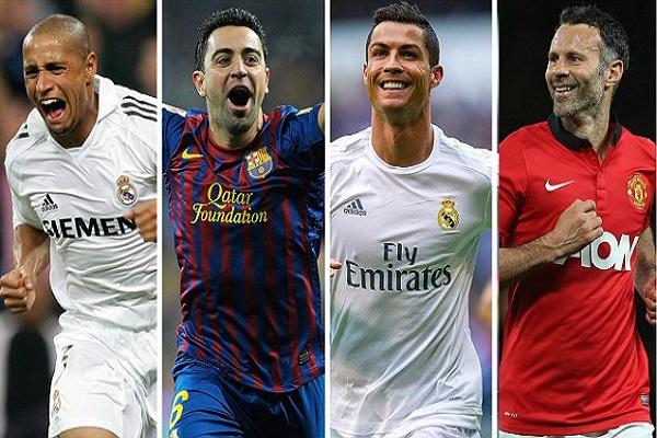 رونالدو على رأس تشكيلة اللاعبين الأكثر مشاركة في دوري الأبطال