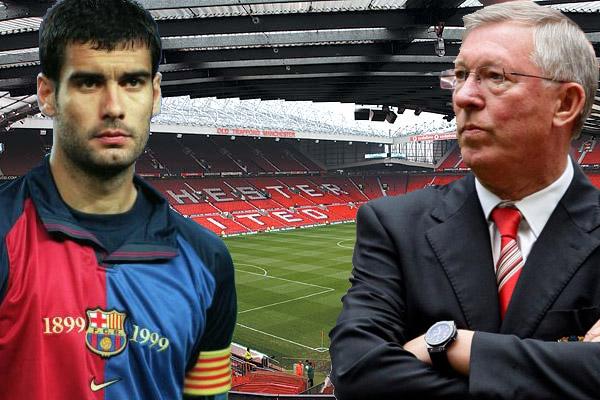 غوارديولا أهدر فرصة اللعب لنادي مانشستر يونايتد بعد انقضاء عقده مع نادي برشلونة