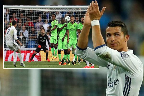 رونالدو بات اللاعب الأكثر تسجيلاً للأهداف بركلات حرة مباشرة في تاريخ مسابقة دوري أبطال أوروبا