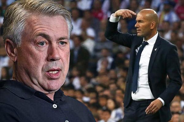 أنشيلوتي يؤكد انه من أقنع زيدان برفض عرض بورودو والبقاء في ريال مدريد