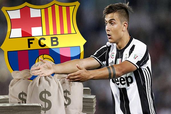 نادي يوفنتوس سيسعى بكل قوة لتفادي رحيل لاعب الدولي الشاب الأرجنتيني باولو ديبالا إلى نادي برشلونة