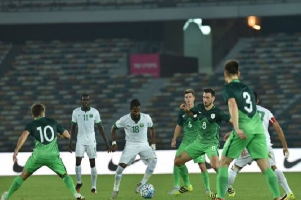 تعادل السعودية وسلوفينيا سلباً في مباراة ودية