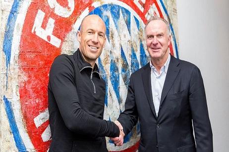روبن يمدد عقده مع بايرن ميونيخ حتى نهاية الموسم المقبل