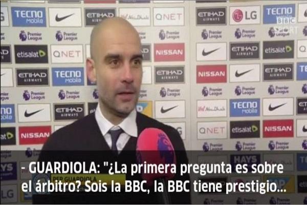 بيب غوارديولا يسخر من مراسل