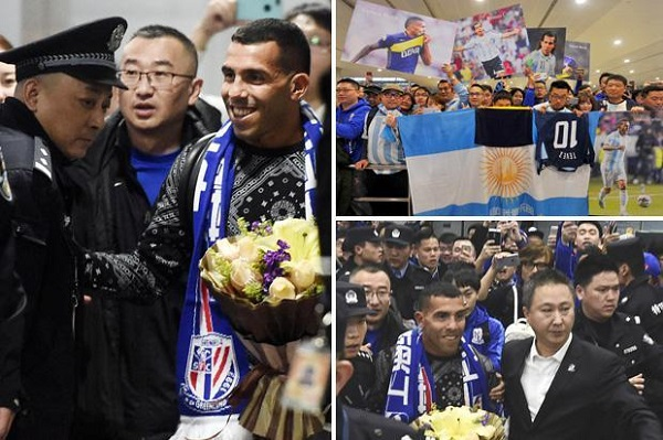 استقبال حاشد لكارلوس تيفيز في شنغهاي