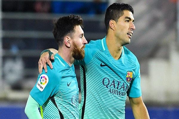رقمان جديدان لسواريز وميسي مع برشلونة في الليغا
