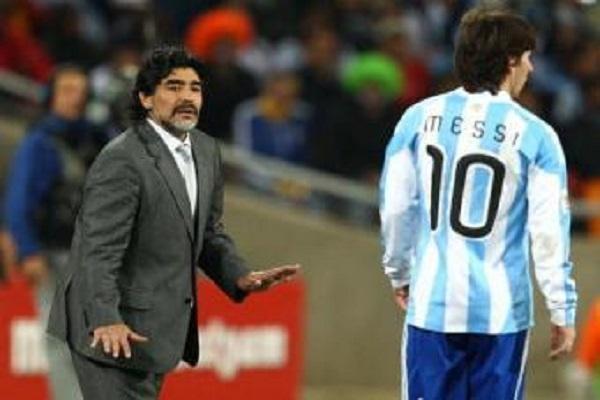 مارادونا يطالب بعدم التقليل من شأن مواطنه ليونيل ميسي