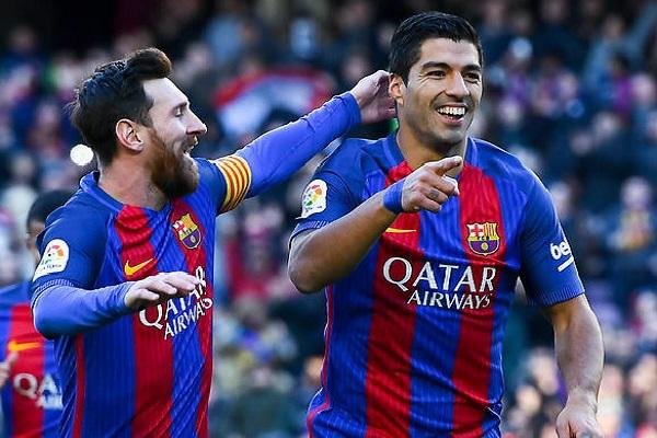 يتصدر ميسي وسواريز ترتيب هدافي الدوري الإسباني برصيد 15 هدفًا لكل لاعب