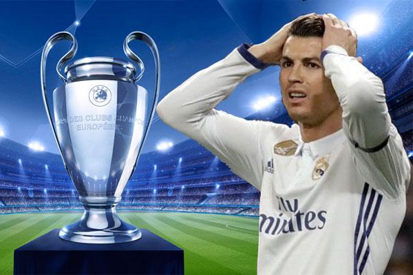 يمر رونالدو مهاجم نادي ريال مدريد بمرحلة فراغ وصيام عن التهديف في مسابقة دوري أبطال أوروبا