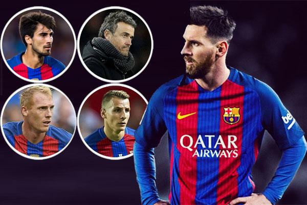 ميسي اشترط رحيل 3 لاعبين بالإضافة للمدرب لويس انريكي للموافقة على البقاء في صفوف برشلونة لسنوات إضافية